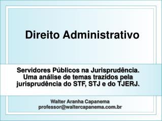 Walter  Aranha Capanema professor@waltercapanema.br