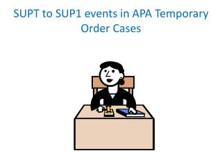 SUPT to SUP1 events in APA Temporary Order Cases
