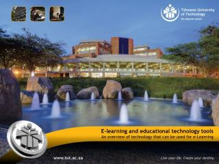 E-learning and educational technology  tools