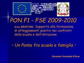 PON F1 - FSE 2009-2010