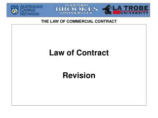 Law of Contract  Revision