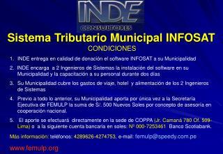 Sistema Tributario Municipal INFOSAT