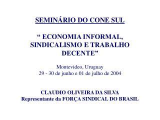 ATUAL CONJUNTURA DO BRASIL