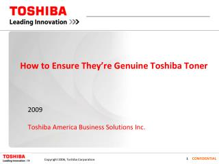 How to Ensure They're Genuine Toshiba Toner