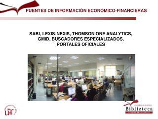 FUENTES DE INFORMACIÓN ECONÓMICO-FINANCIERAS