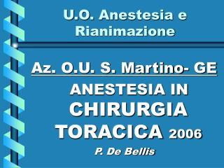 U.O. Anestesia e Rianimazione