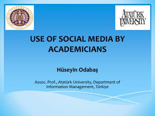 USE OF SOCIAL MEDIA BY ACADEMICIANS