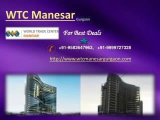 WTC Manesar- World Trade Center Manesar Gurgaon