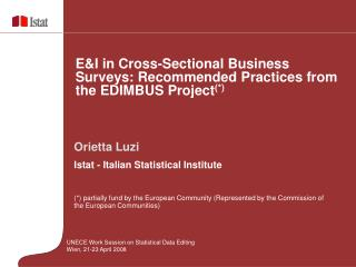 Orietta Luzi Istat - Italian Statistical Institute