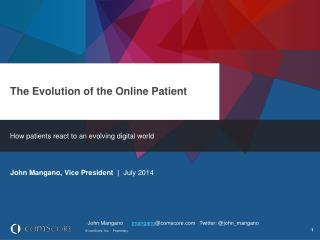 The Evolution of the Online Patient