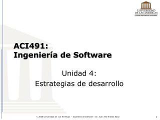 ACI491: Ingeniería de Software