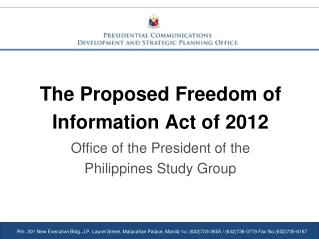 The Proposed Freedom of Information Act of 2012