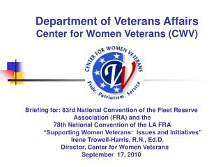 Department of Veterans Affairs Center for Women Veterans CWV