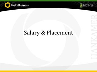 Salary & Placement