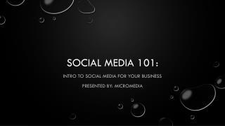 Social Media 101: