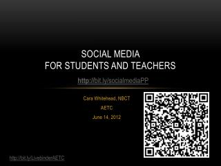 Social media  for students and teachers