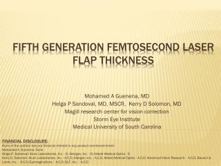 Fifth Generation Femtosecond Laser Flap Thickness