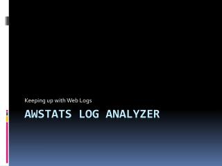 Awstats  Log Analyzer