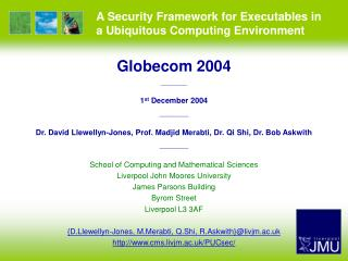 A Security Framework for Executables in a Ubiquitous Computing Environment
