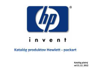 Katalóg produktov Hewlett -  packart