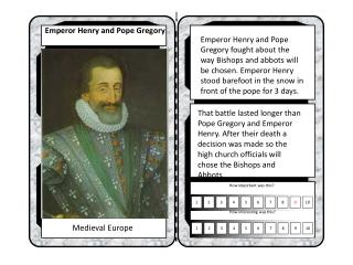 Emperor Henry and Pope Gregory