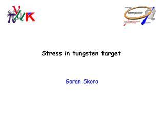 Stress in tungsten target