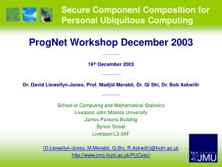 Secure Component Composition for Personal Ubiquitous Computing