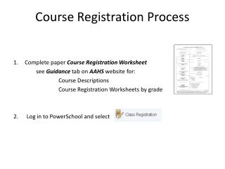 Course Registration Process