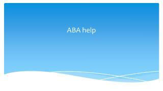 ABA help