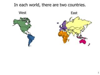 In each world, there are two countries.