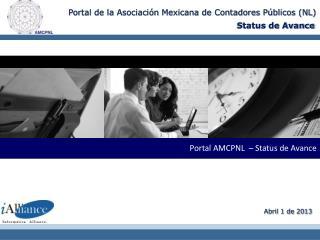 Portal  AMCPNL  –  Status de Avance