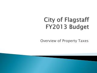 City of Flagstaff FY2013 Budget