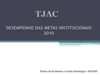 DESEMPENHO DAS METAS  INSTITUCIONAIS 2010