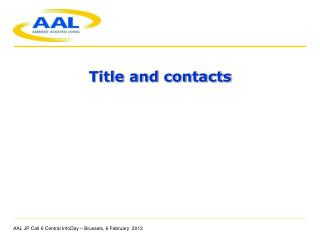 Title and contacts