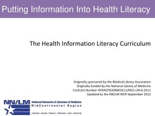Putting Information Into Health Literacy