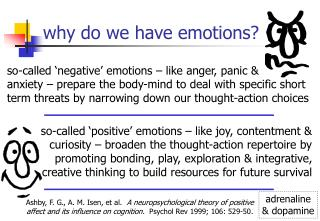 why do we have emotions?