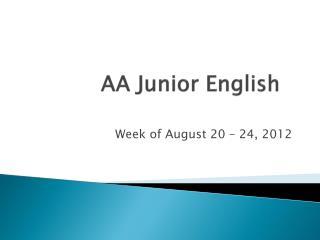 AA Junior English