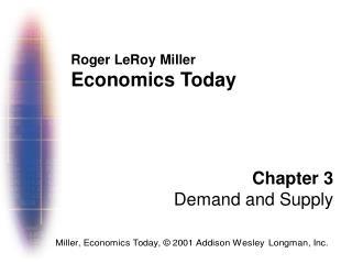 Roger LeRoy Miller Economics Today