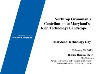 Northrop Grumman's Contribution to Maryland's Rich Technology Landscape