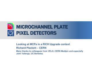 Microchannel  plate  pixel detectors