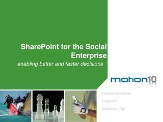 SharePoint  for the Social  Enterprise
