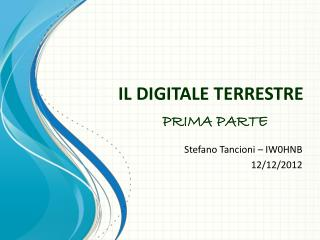 IL DIGITALE TERRESTRE