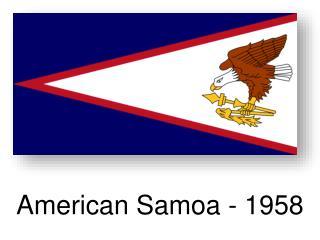 American  Samoa - 1958