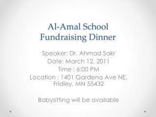 Al-Amal School Fundraising Dinner