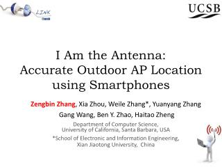 I Am the Antenna: Accurate Outdoor AP Location  using Smartphones