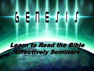 Learn to Read the Bible Effectively Seminars
