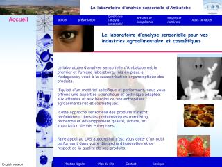 Le laboratoire d�analyse sensorielle d�Ambatobe