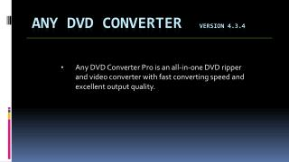 Any DVD Converter   Version 4.3.4