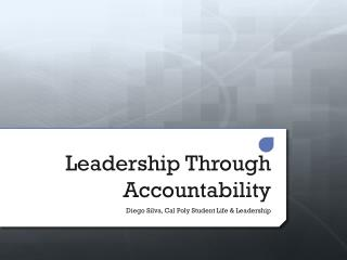 Leadership Through Accountability