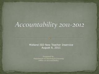 Accountability 2011-2012